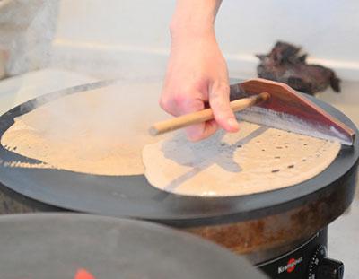 ガレットの料理手順